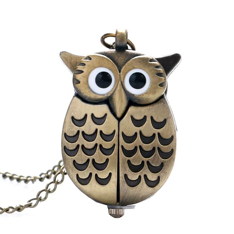 Купить Часы кулон на цепочке Сова с раздвижными крыльями в ...